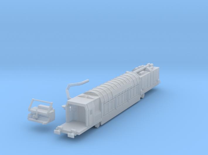 N Gauge RA7 Railvac Air/Vacuum Excavator Wagon 3d printed