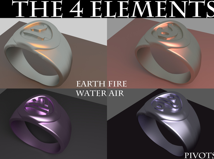 4 Elements - Fire Ring 3d printed