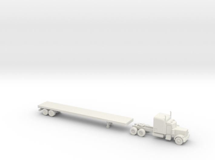 Peterbilt 379 with Flatbed - 1:200scale 3d printed