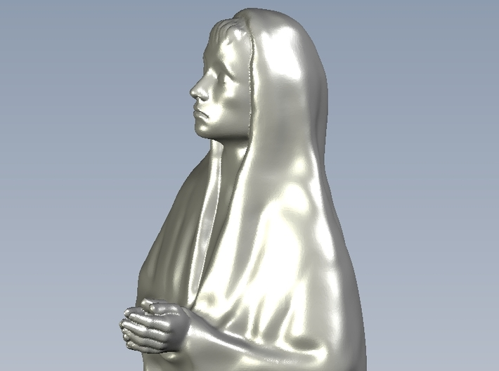 1/15 scale female with long cloak praying figure 3d printed