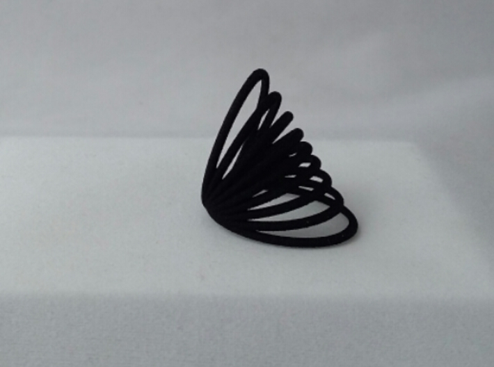 RING MAGNETIC FIELD PLASTIC SIZE 7 3d printed