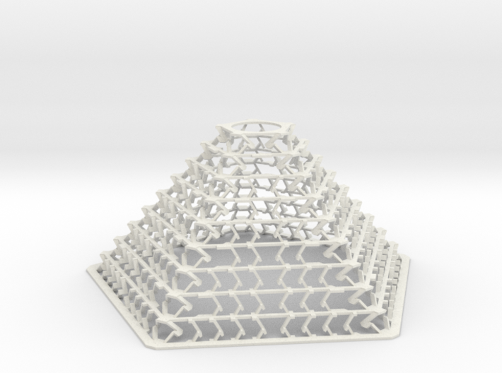 Pentagonal Pyramid Staggered Desktop Decor Lamp 3d printed