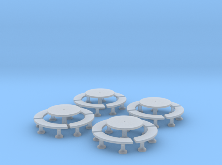 TJ-H01140x4 - Tables beton rondes 3d printed