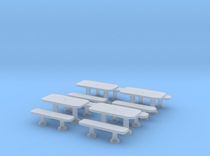 TJ-H01141x4 - Tables beton rectangulaires 3d printed