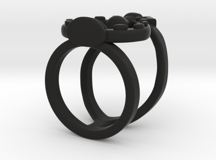 Potion Of The Unseen Midi Ring 3d printed