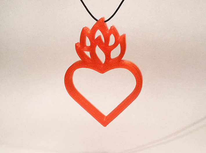 Flaming Heart No.01 3d printed Test print from my 3d printer. PLA, 1.75 mm