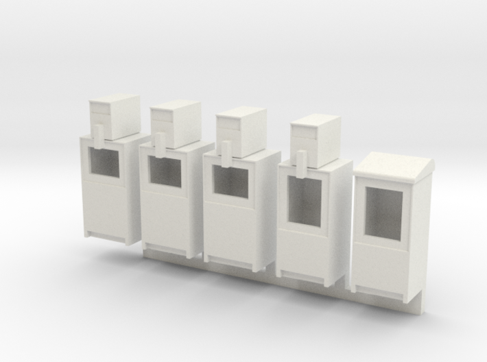 Newspaper Boxes in 1:35 scale 3d printed
