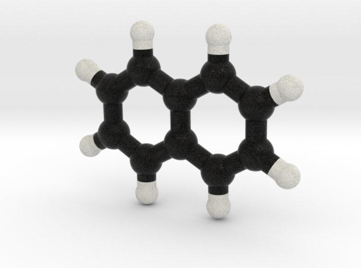Naphtalene Molecule Model. 3 Sizes. 3d printed