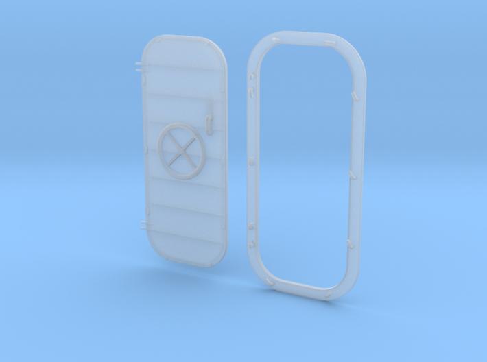 1/32 USN Door Watertight Wheeled w. frame Left 3d printed