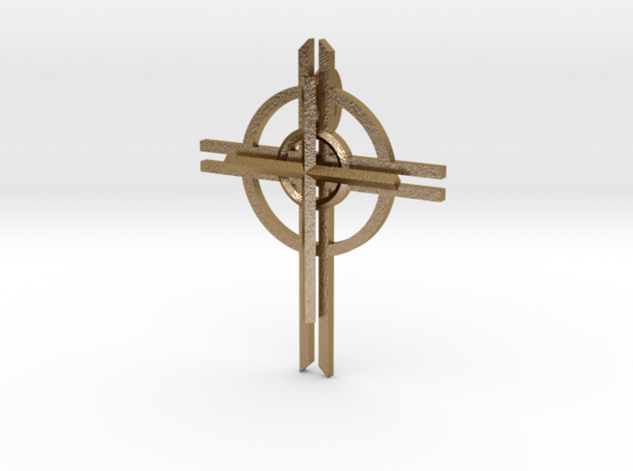 Pectoral Cross Necklace 3d printed