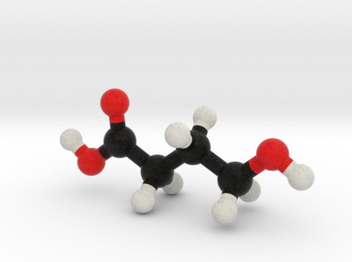 GHB Molecule Model. 3 Sizes. 3d printed
