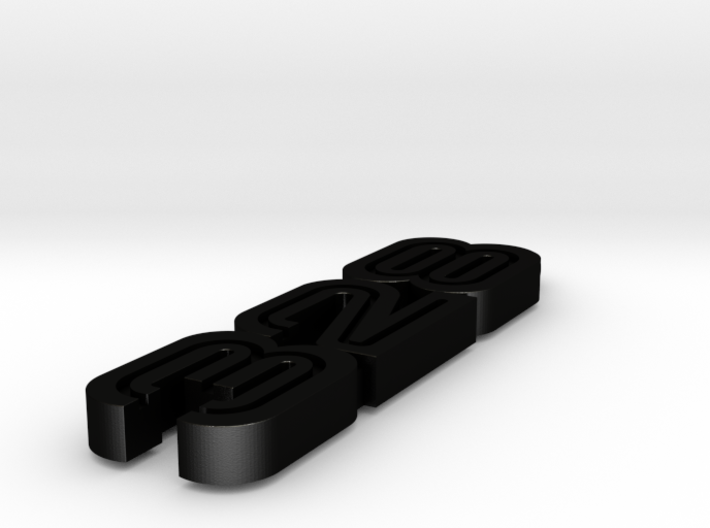 KEYCHAIN LOGO 328 IN BLACK 3d printed