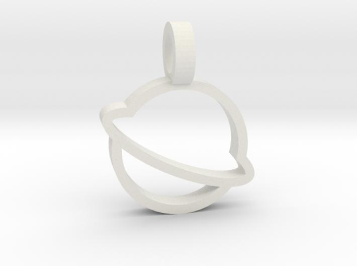 Saturn Pendant 3d printed