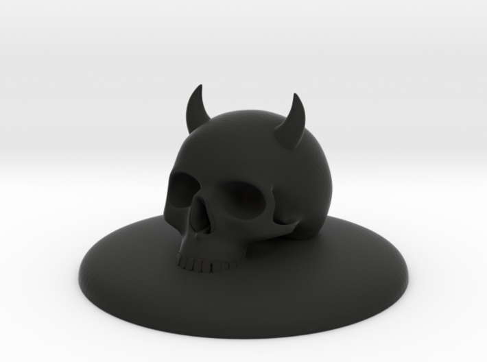 HOOD ORNAMENT FOR MINI COOPER DEVIL WITH HORNS FOR 3d printed