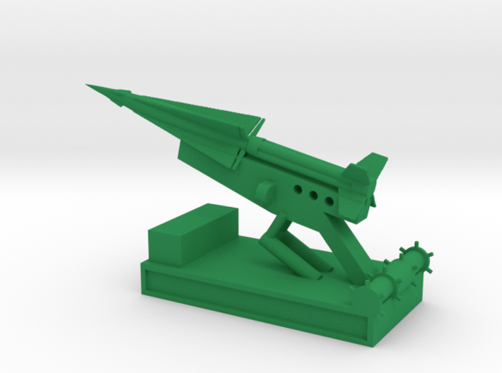 1/160 Scale Nike Launch Pad With Missile 3d printed