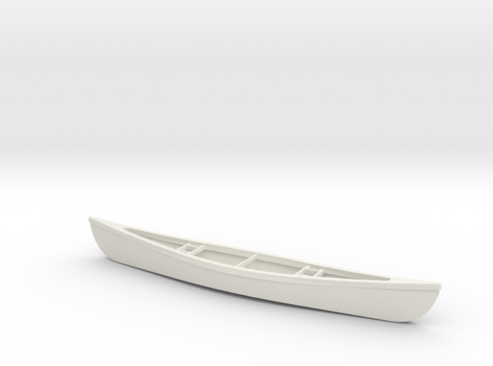 1/24 Scale 18 Ft Canoe 3d printed