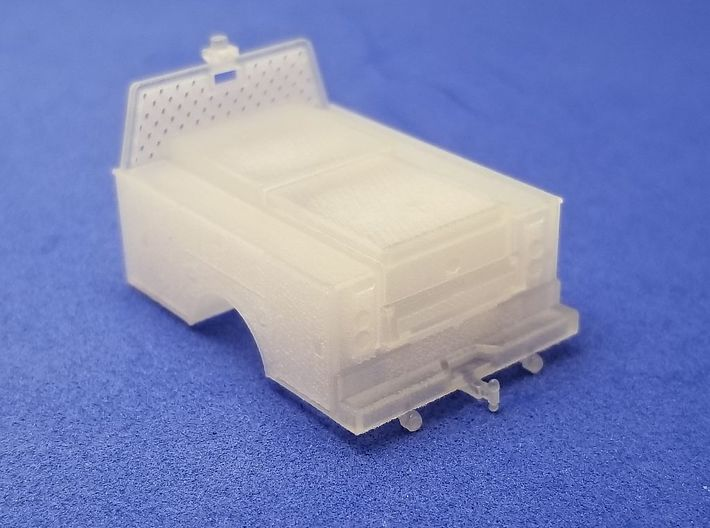 Standard Full Box Truck Bed MOW 1-87 HO Scale 3d printed