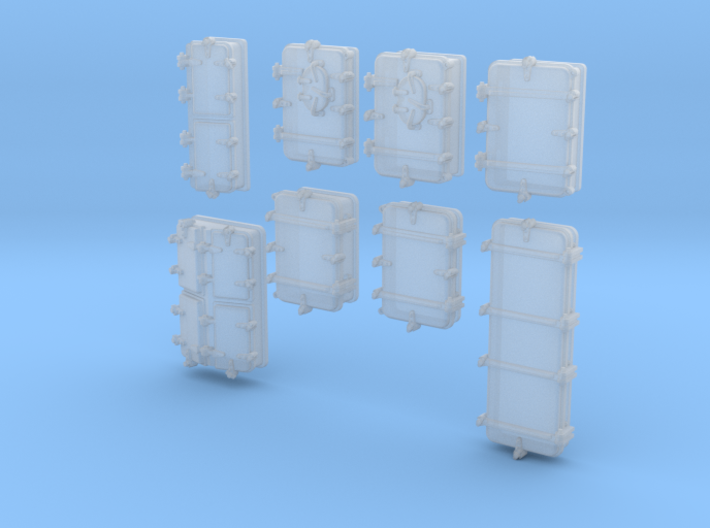 1/500 Royal Navy Assorted Deck Hatches x68 3d printed 1/500 Royal Navy Assorted Deck Hatches x68