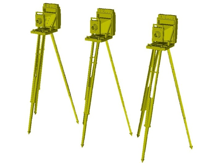1/20 scale vintage cameras with tripods x 3 3d printed