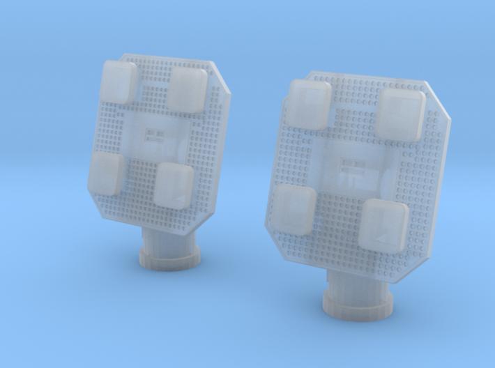 1:72 Scale Satcom Antennas (2x) 3d printed