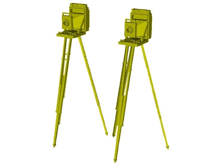1/18 scale vintage cameras with tripods x 2 3d printed
