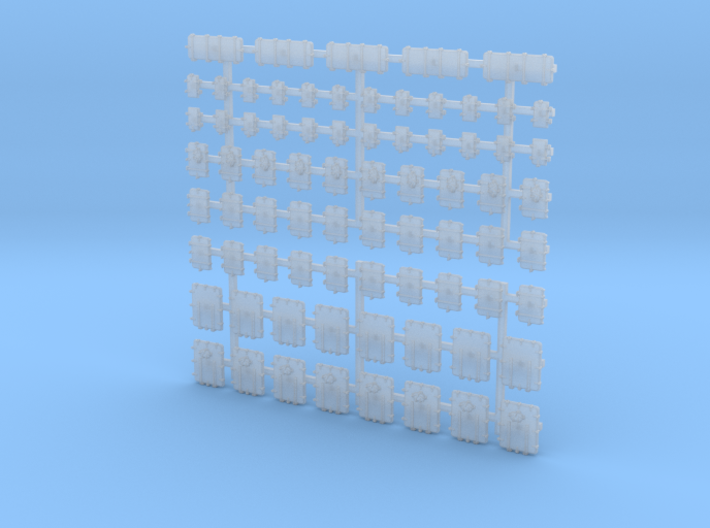 1/200 Royal Navy Assorted Deck Hatches Only x75 3d printed 1/200 Royal Navy Assorted Deck Hatches Only x75