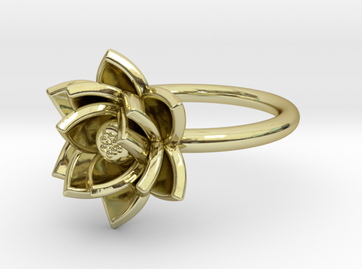 Lotus Ring (Size 7) 3d printed
