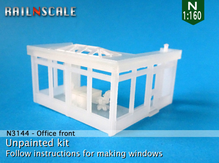 Office front (N 1:160) 3d printed