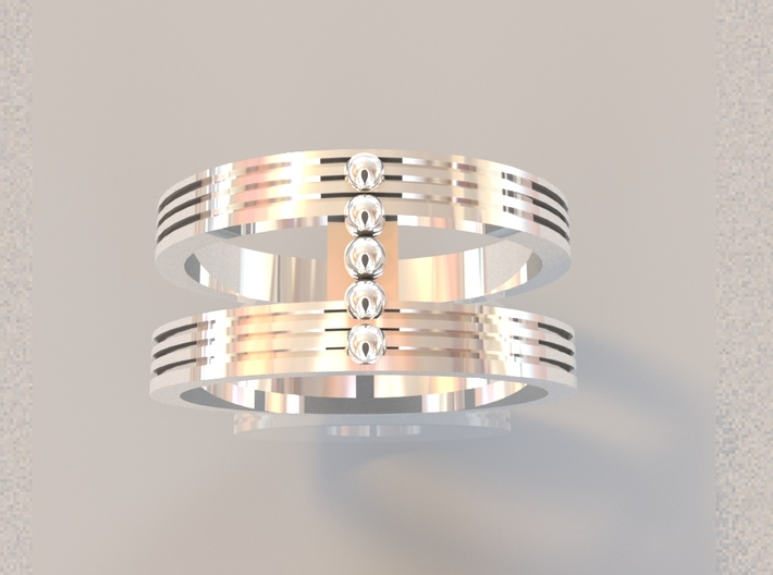 Fashion ring 3d printed