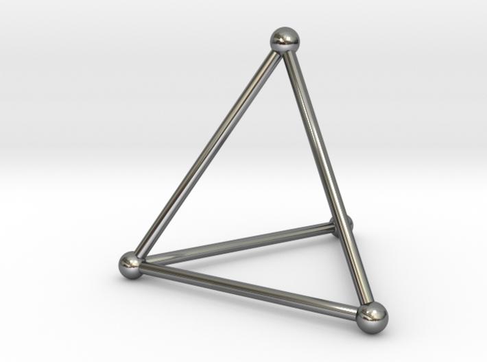 Tetrahedron Necklace 3d printed