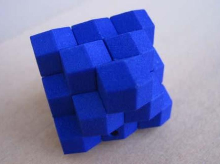 Octahedron with child 3d printed The assembled puzzle.
