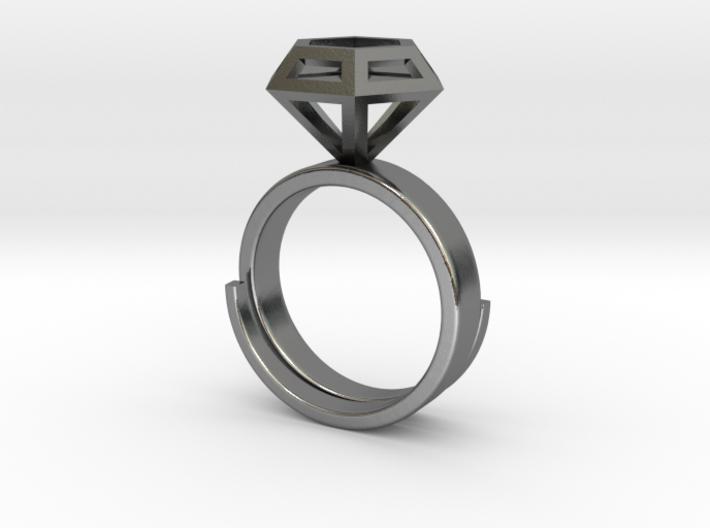 Diamondring US 6 3d printed