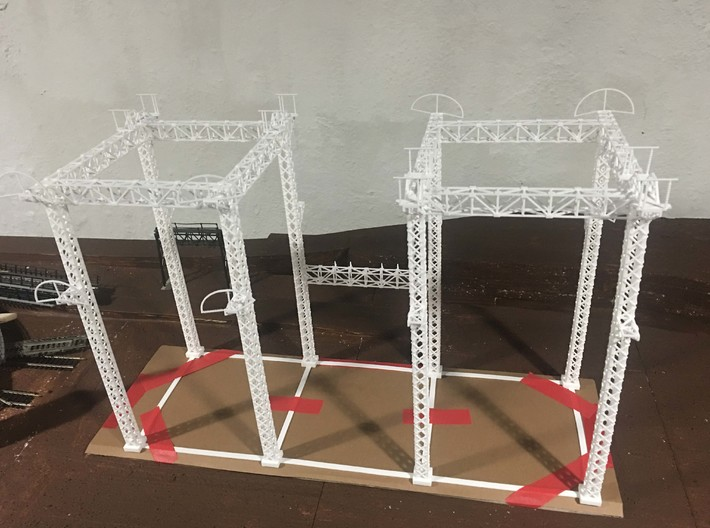 PRR SUB STATION HO SCALE 3d printed As shipped- structure is delicate Shapeways did a good job