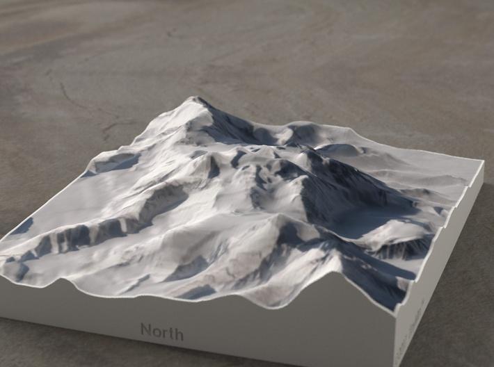 Vinson Highlands, Antarctica, 1:150000 Explorer 3d printed