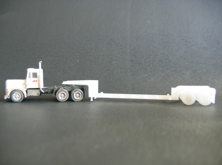 N scale 1/160 MSW Trash Lowboy Trailer 3d printed This is my HO version of the Trash Lowboy