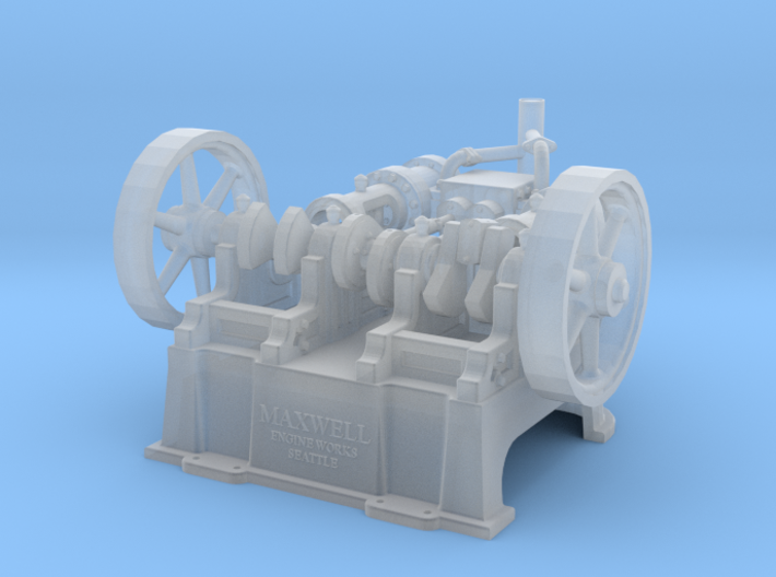 "Maxwell Horizontal 10"" Twin Steam Engine 3d printed"