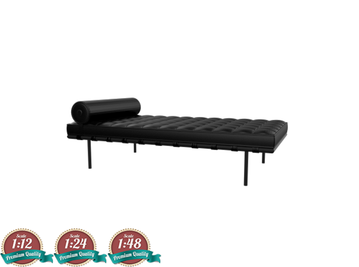 Miniature Barcelona Daybed Couch - Ludwig Van Der  3d printed Miniature Barcelona Couch - Ludwig Van Der Rohe