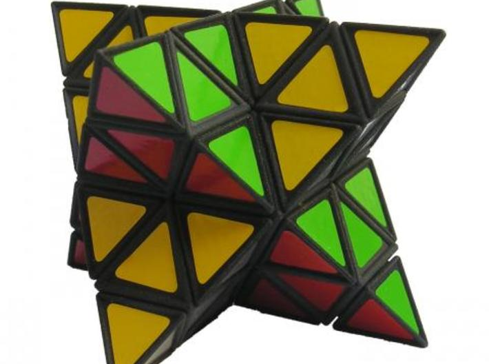 Tetrahedral Twins 3d printed Isolated on white