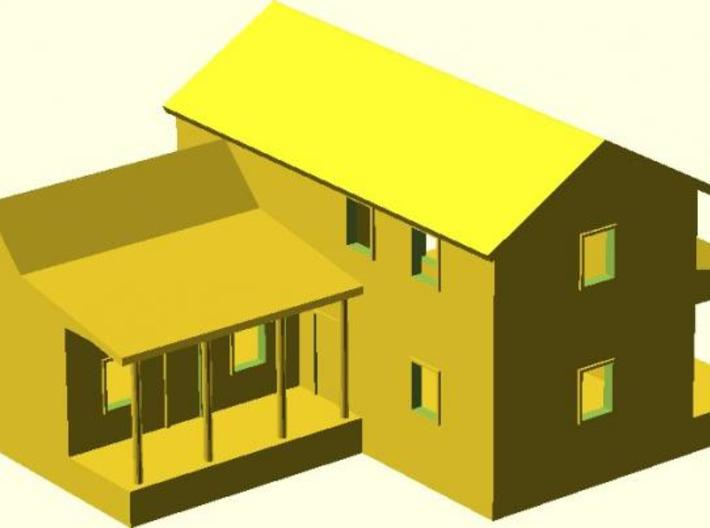 CBR Section Foreman House - Z Scale 3d printed 3d Model