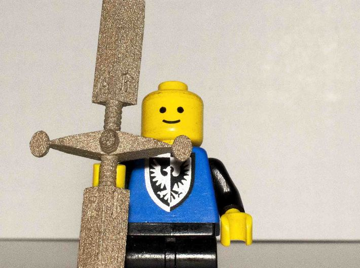 Longsword D8 3d printed Lego figure not included