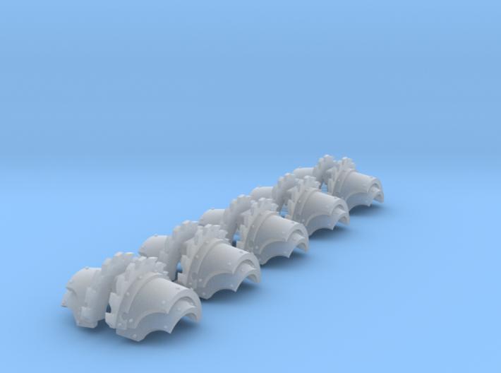 5x Saw Ridge Cataphractii Shoulder Sets 3d printed