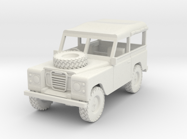Land Rover 1:30 scale Soft Top Rolled Up. 3d printed