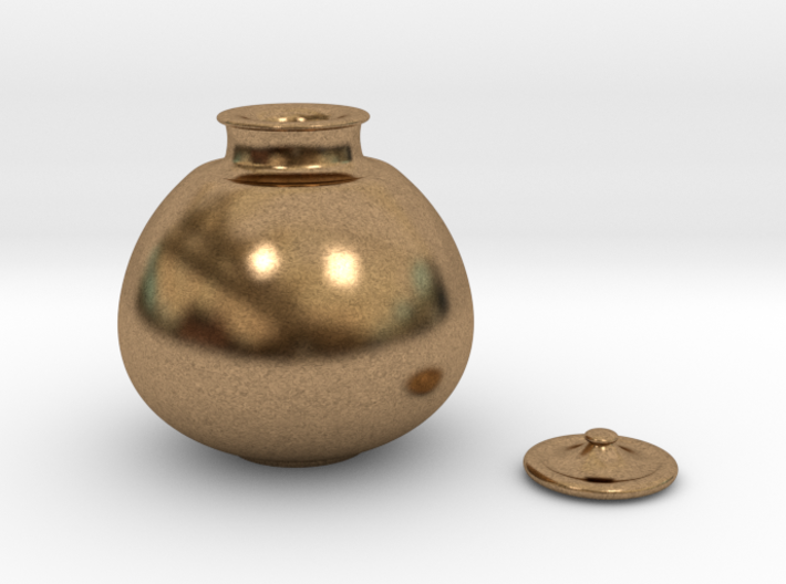 Japanese tea caddy Tsukumo Nasu 3d printed