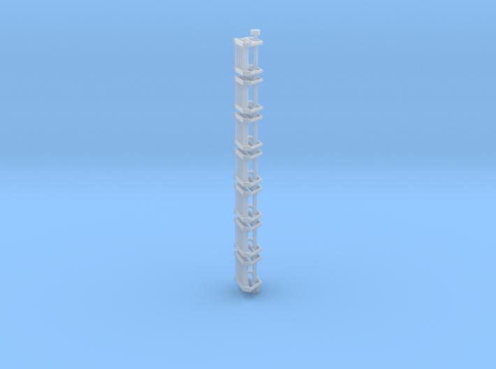 N Scale Stairs 4 (7 pc) 3d printed
