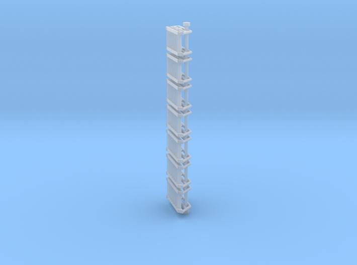 N Scale Stairs 7 (7 pc) 3d printed