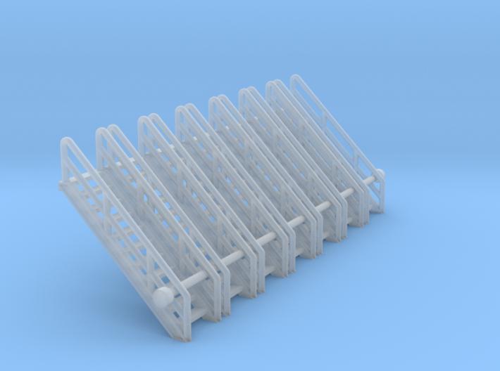 N Scale Stairs 11 (7pc) 3d printed