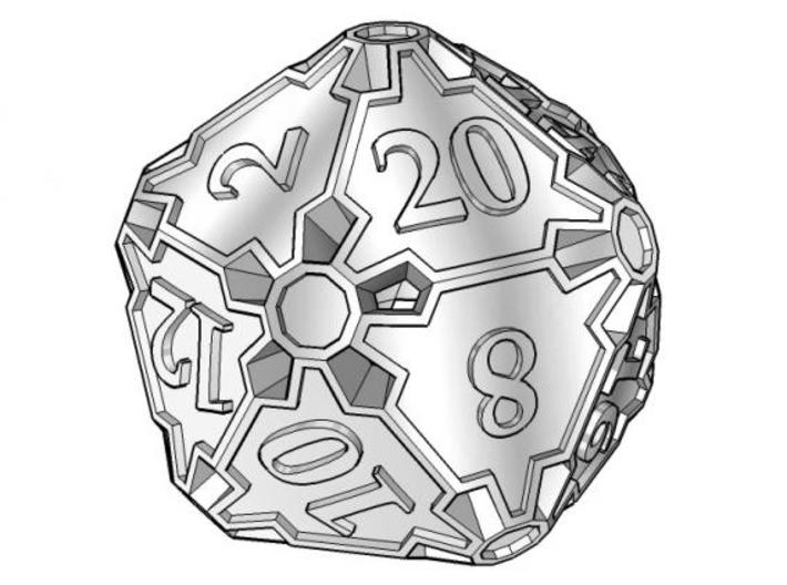Huge d20 3d printed A much bigger version of the Die20, per customer request.