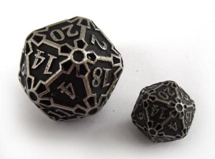Huge d20 3d printed A size comparison between the Huge Die20 and the Die20