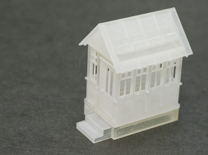 CPR John Street Gatehouse - Restored - HO(1/87) Sc 3d printed FUD print test assembled front view.