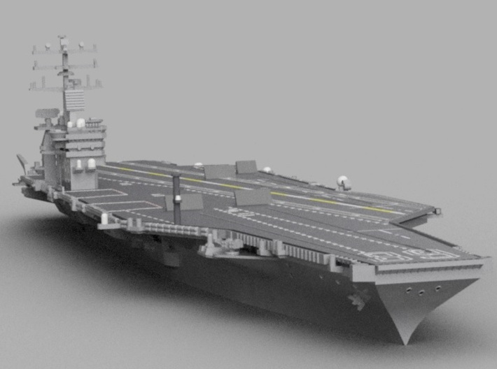 1/1800 USS Nimitz 3d printed Computer software render.The actual model is not full color.